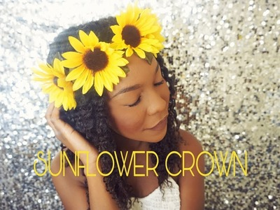 DIY: Sunflower Crown || 3 minute Quick and Easy Tutorial || Girly.Festival