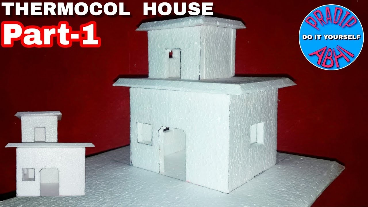 DIY - Thermocol House || How To Make House || Thermocol Craft For