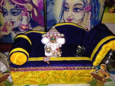 DIY- Tutorial Make Singhasan.Thron. Couch. Sofa 4 Laddu Gopal. Bal Gopal. Little Krishna