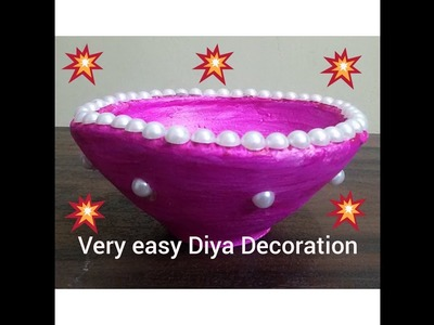 DIY- Very Easy Diya Decoration. Diwali Craft