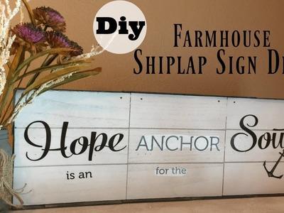 Dollar Tree DIY Farmhouse Shiplap (DUPE) Wood Sign Decor | Full Tutorial