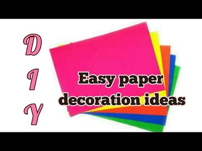 Easy paper decoration idea for diwali,christmas|birthday party|new year party