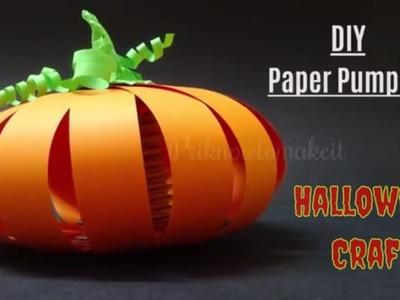 Halloween Craft | How to make Halloween Pumpkin using paper | paper pumpkin tutorials, diy pumpkin