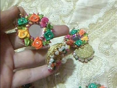 Handmade gota jewellery art & craft-Multi Jhomer & Jhumki