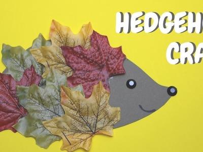 Hedgehog Craft for Kids | Fall Crafts for Kids