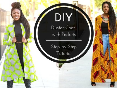How to | DIY Duster Coat with Pockets Tutorial | Part 2