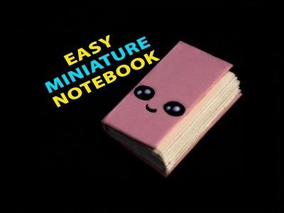How to make a cute miniature notebook. Diy. creative craft