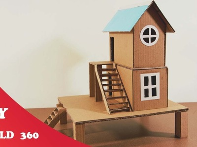 How to make a house-DIY cardboard craft