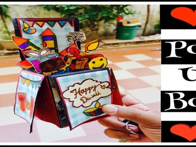 How to make birthday cards. diy Diwali greeting box. diy pop up card. diy card for boyfriend