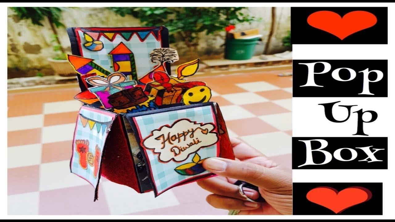 How to make birthday cards. diy Diwali greeting box. diy pop up card. diy card for boyfriend