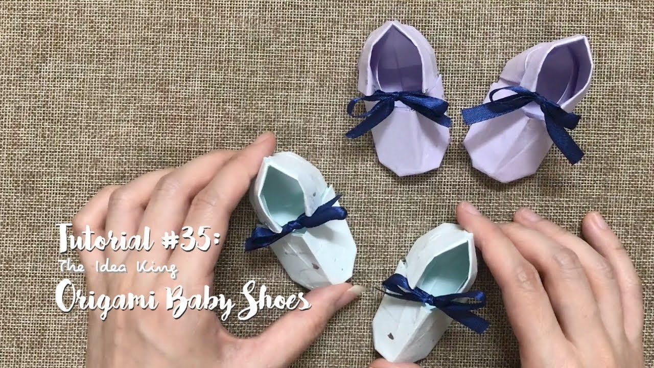 How to Make DIY Origami Cute Baby Shoes? | The Idea King Tutorial #35