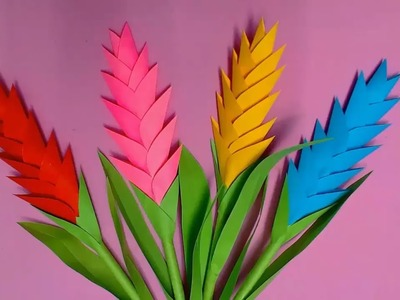 How to Make Heliconia Flower with Paper ● 10 Minutes Craft ● HD