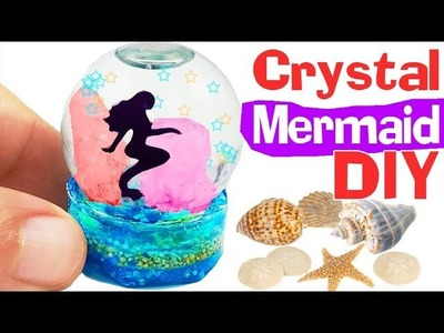 HOW TO MAKE MINIATURE CRYSTAL MERMAID DIY Craft Resin polymer clay tutorial 5-minute crafts
