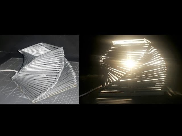 How to make night lamp with paper ( DIY Paper art & craft ) DIY table lamp