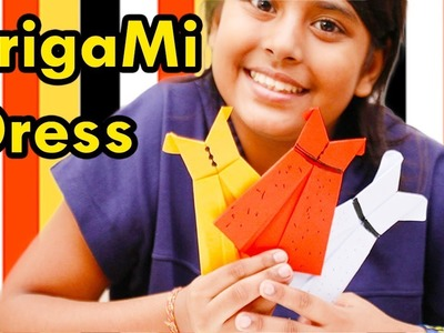 How to Make Origami Dress | Easy Tutorial for Beginners | Paper Dress DIY | Craft