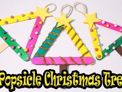 How to make Popsicle stick Christmas Tree | Christmas Craft for Kids