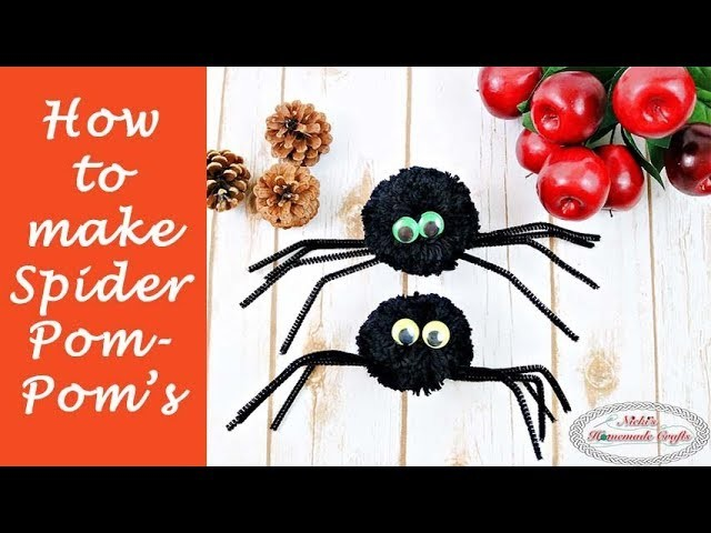 How to make Spider Pom Pom's - Halloween DIY Tutorial