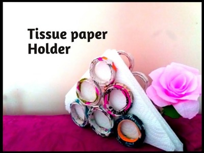How to make tissue paper holder | DIY easy craft | Best out of waste.