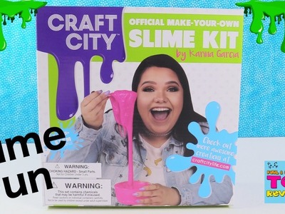 Lets Make Slime With Karina Garcia Craft City Slime Kit Toy Review | PSToyReviews