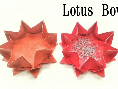 Lotus Flower Bowl | Box - Origami ❤️ DIY ❤️ Tutorial by Paper Folds - 819