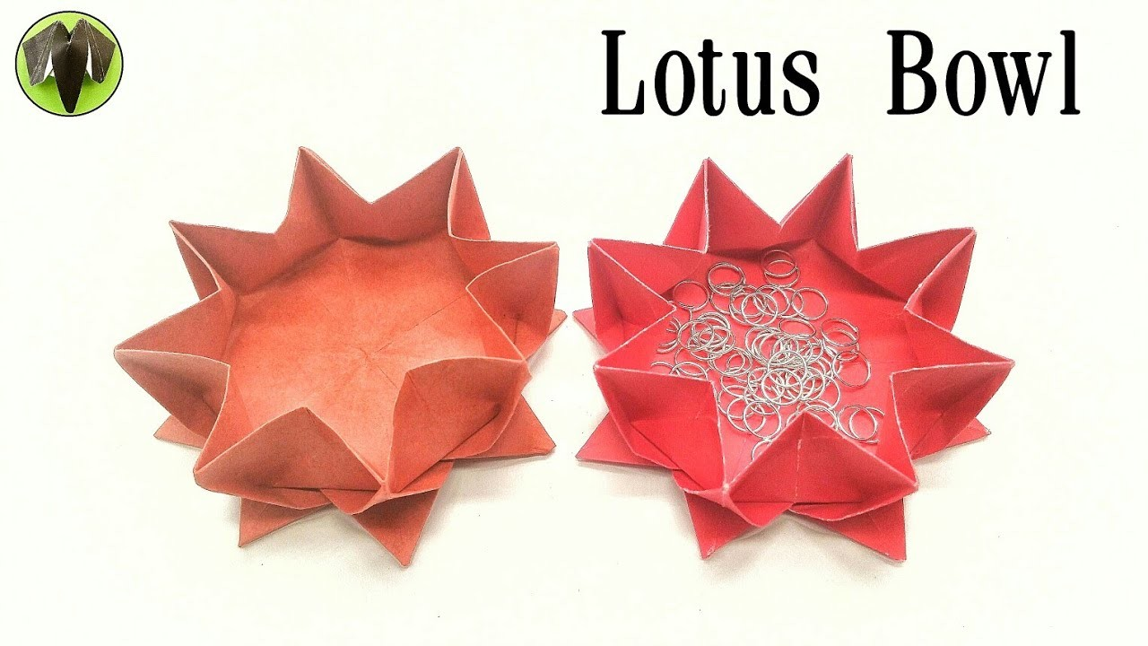 Flower Lotus Flower Bowl Box Origami Diy Tutorial By