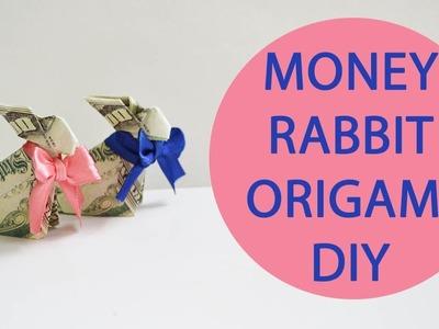 Money Rabbit Origami Dollar Animal Craft Tutorial DIY Folded No glue