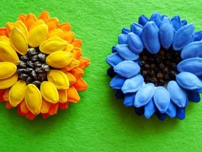 Nature craft idea-Pumkin seed flower -fall craft -video tutorial