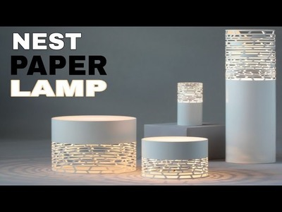 Nest- Fancy paper lantern || paper lampshade  ( christmas craft )