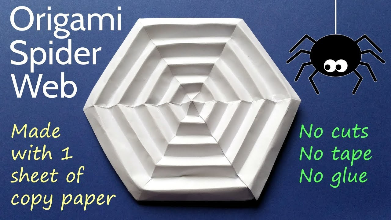 Origami Spider Web - DIY Paper Halloween Decoration Tutorial