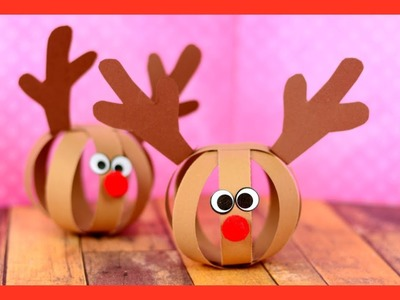 Paper Ball Reindeer Craft - fun Christmas craft for kids