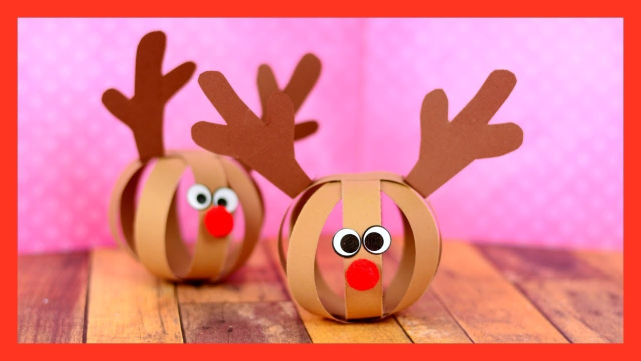 Paper Ball Reindeer Craft - fun Christmas craft for kids