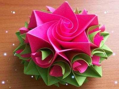 Beginners Paper Flowers Rose Diy Tutorial Easy For Childrenorigami