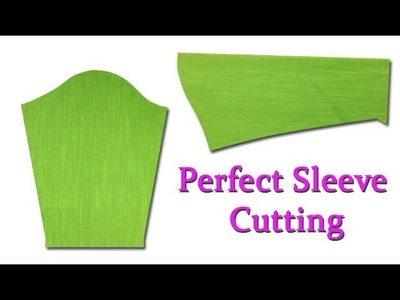 Perfect  sleeve cutting and stitching Malayalam for beginners easy method DIY tutorial