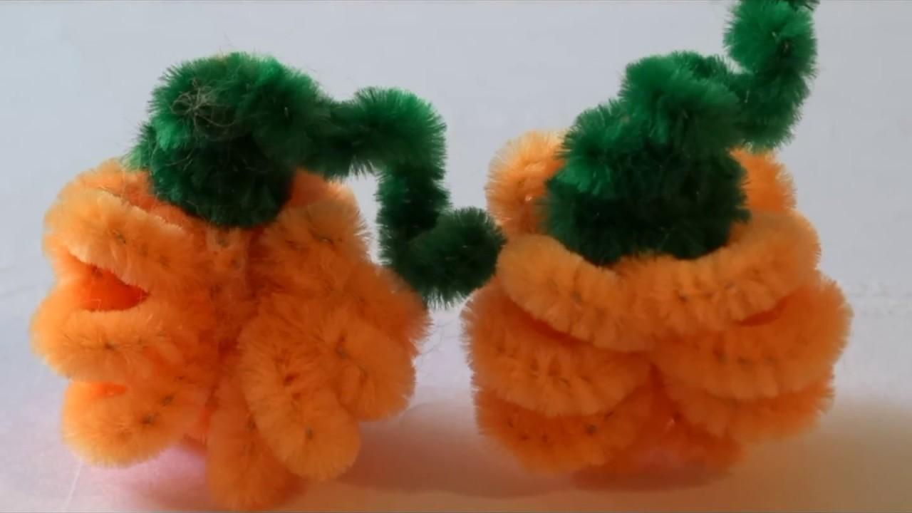 Pipe Cleaner Craft Halloween Pumpkin Easy Craft For Kids