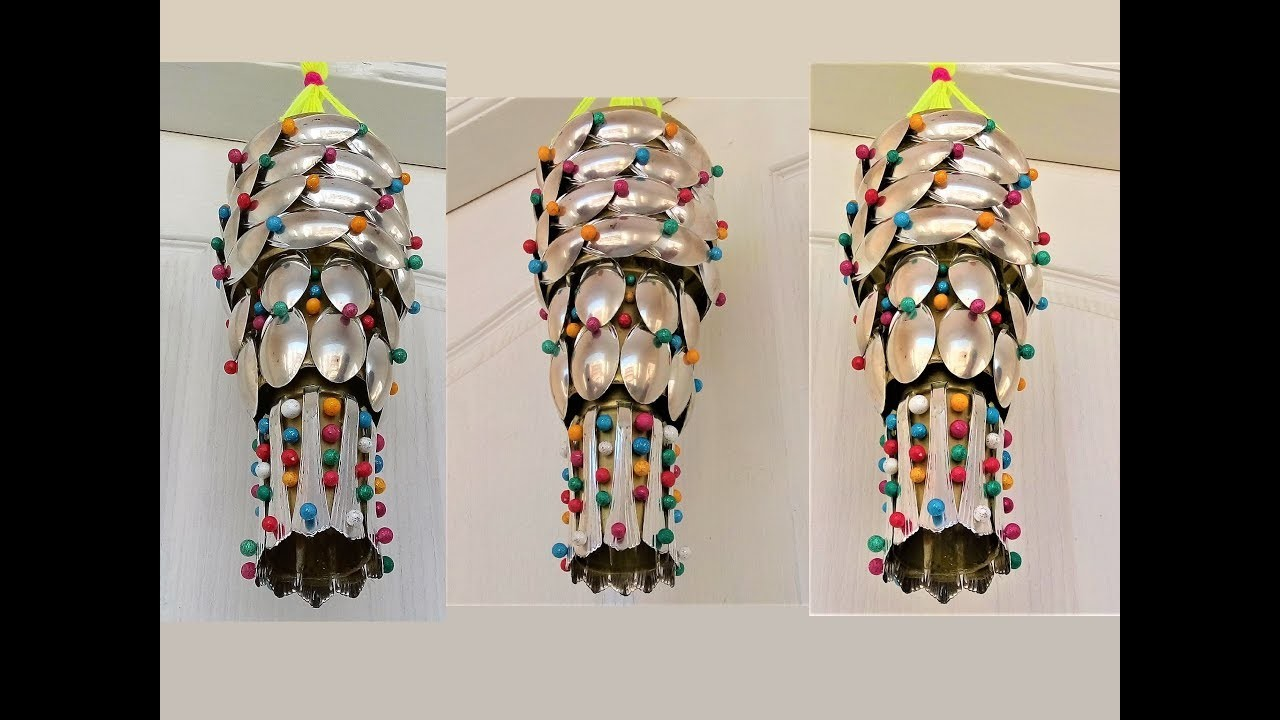 Plastic Bottle Spoon Craft Wall Hanging Wind Chime Recycle Idea Best Out Of Waste