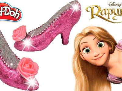 Play Doh Super Craft Making Colorful Rapunzel Disney Princess Super Glitter High Heels Sparkle Shoes