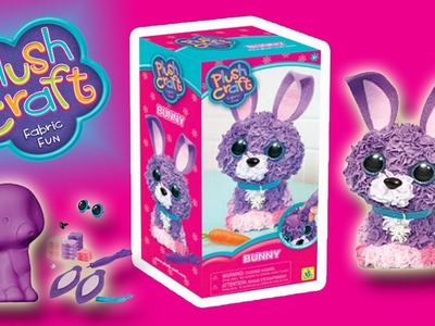 PLUSH CRAFT - FABRIC FUN 3D BUNNY - MAKING & PLAYING | Little Kelly & Friends ToysReview for Kids