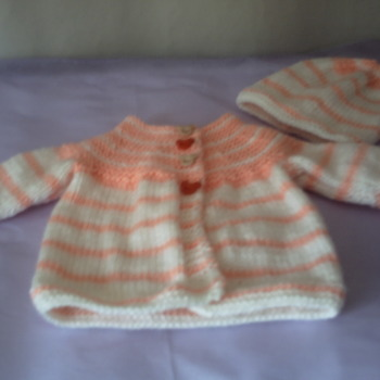 Premature baby - doll coat - hat