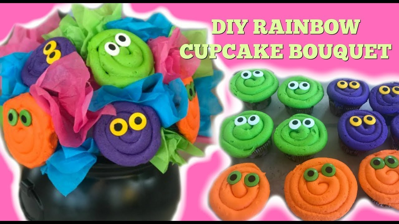 Rainbow Cupcake Bouquet & AMAZON GIVEAWAY I DIY I How to Cook Craft & Kids