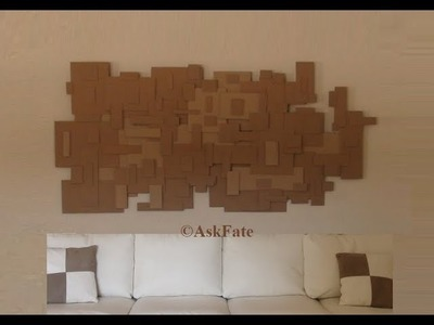Recycled Cardboard Boxes Into Wall Art Decor - DIY Craft
