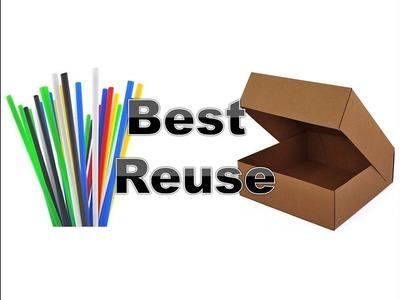 Reuse old box | DIY Photo frame | Easy Craft work for Children | DIY Home Decorating Idea