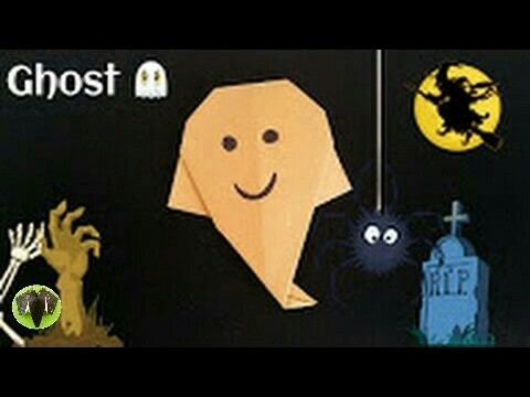 Super Easy Halloween Ghost ???? - DIY Origami Tutorial by Paper Folds - 818