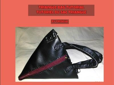 Triangle bag (Sac Triangle) tutorial (DIY)