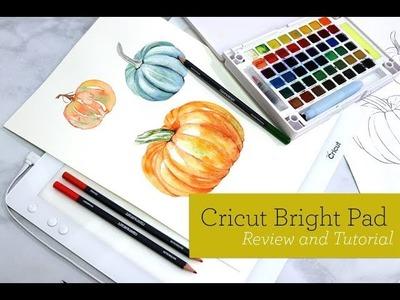 Watercolor Pumpkin Cricut Bright Pad DIY Tutorial Sakura Travel Palette