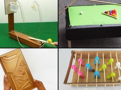 4 Easy DIY Toys for Kids   Best out of Waste - Cardboard & Popsicle Stick Crafts