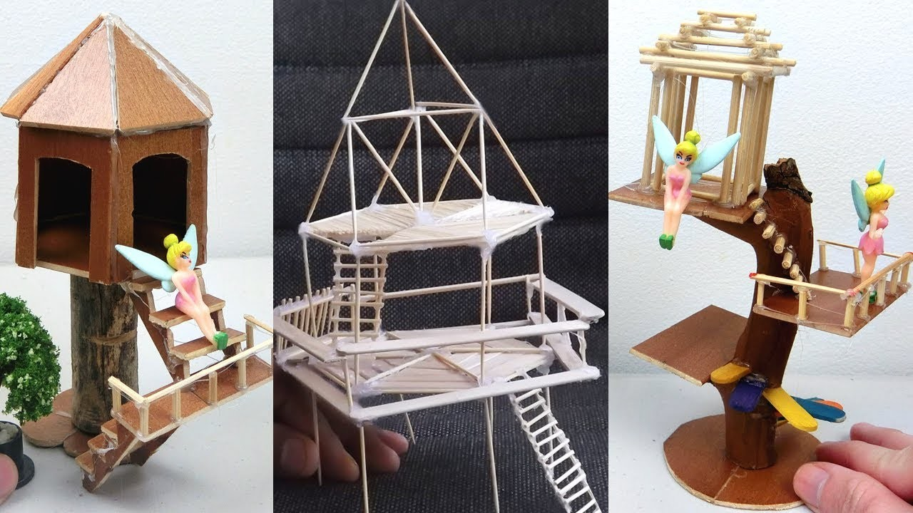 4 Easy Miniature Treehouse | How to & DIY Fairy House Project