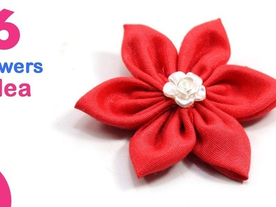 6 DIY FLOWERS Idea | Make Beautiful Flowers from Old Clothes for Decoration | Sonali Creations 177