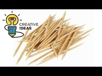 Awesome Way To Use Toothpicks - DIY Room decor idea with toothpic