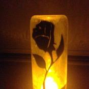 Beauty and the beast rose- Disney fairy jars/ decorative light