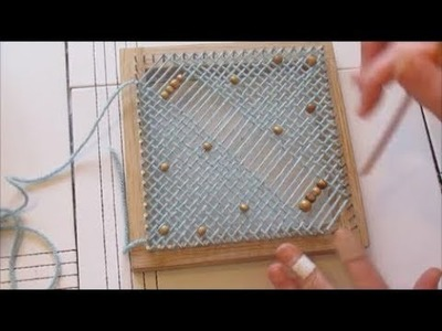 Beginners guide - how to add beads into your Pin Loom Weaving